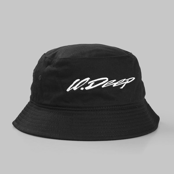 10 DEEP HANDSCRIPT BUCKET HAT BLACK