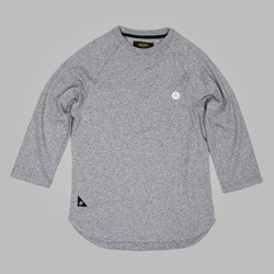 10 DEEP SCOOP BASEBALL SHIRT HEATHER GREY