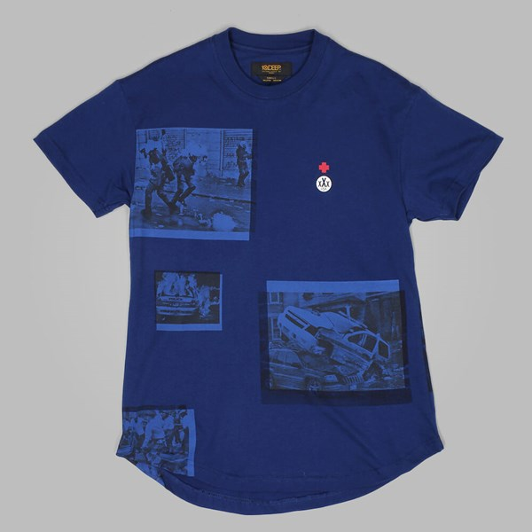 10DEEP IMPACT SCOOP BOTTOMED TEE NAVY