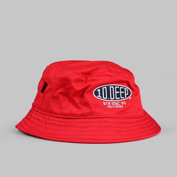 10DEEP SALT FLATS BUCKET HAT RED
