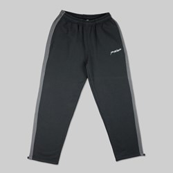 YARDSALE 2TONE TRACK BOTTOMS BLACK CHARCOAL