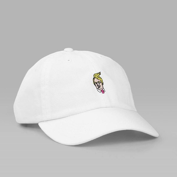40'S & SHORTIES UNSTRUCTURED COMB OVER DAD HAT WHITE