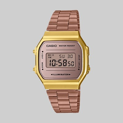 CASIO WATCH A168WECM-5EF GOLD ROSE GOLD