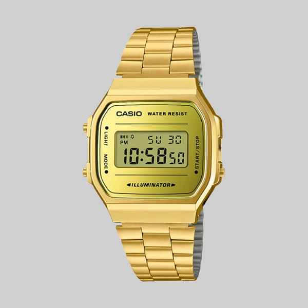 CASIO WATCH A168WEGM-9EF GOLD GOLD