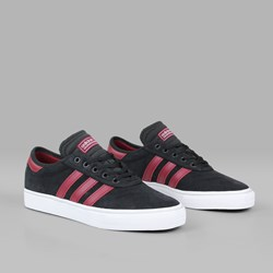 ADIDAS ADI EASE PREMIER BLACK BURGUNDY WHITE