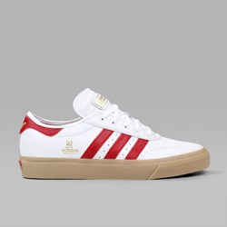 ADIDAS ADI EASE UNIVERSAL LEATHER WHITE SCARLET GUM