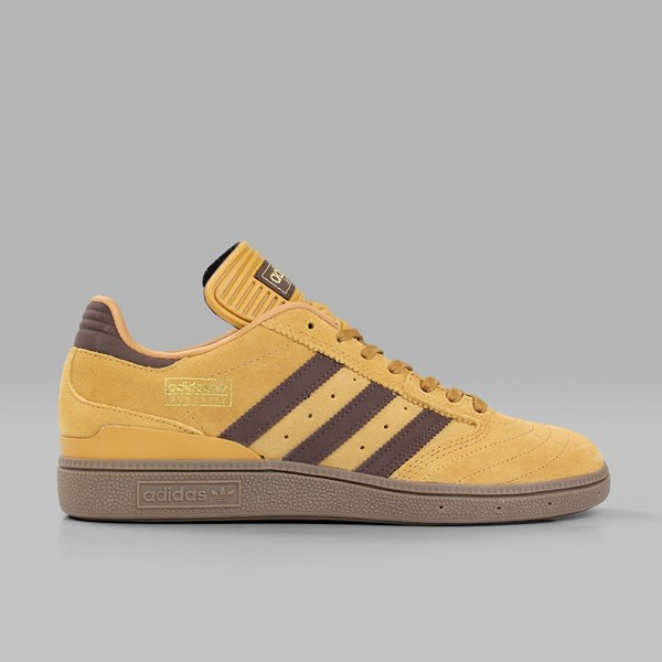 detailed look c08fb 37823 ADIDAS BUSENITZ PRO MESA BROWN GOLD METALLIC