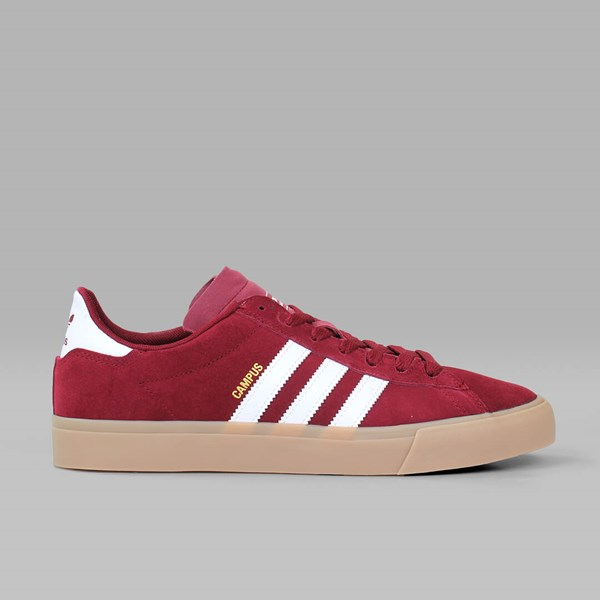 quality really comfortable picked up ADIDAS CAMPUS VULC II ADV BURGUNDY WHITE GUM ...