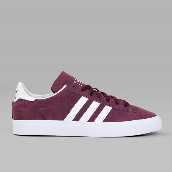 new product 917d6 cefb2 ADIDAS CAMPUS VULC II ADV MAROON WHITE
