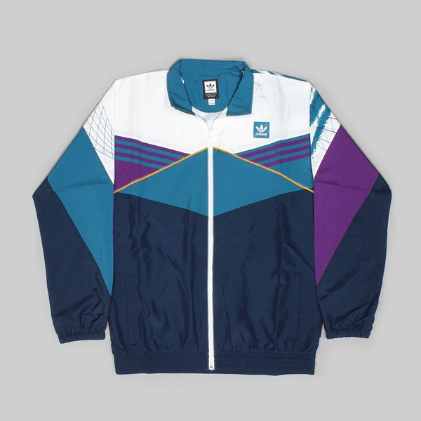 ADIDAS COURT JACKET WHITE COLLEGIATE NAVY