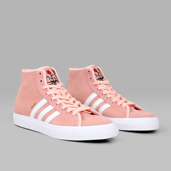 outlet store aae0c 635b4 ADIDAS MATCHCOURT HIGH RX HAZE CORAL WHITE