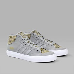 ADIDAS MATCHCOURT MID SOLID GREY YELLOW WHITE
