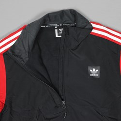 ADIDAS NECK JACKET BLACK SCARLET WHITE