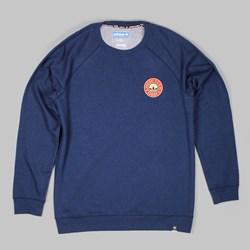 ADIDAS SILAS RIDE CREW NECK SWEAT  NAVY