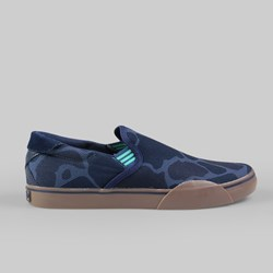 ADIDAS SKATE GONZ SLIP ON TRAINER VISTA BLUE/COLLEGIATE NAVY/SOLO MINT