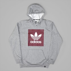 ADIDAS SOLID BB HOOD CORE HEATHER BURGUNDY