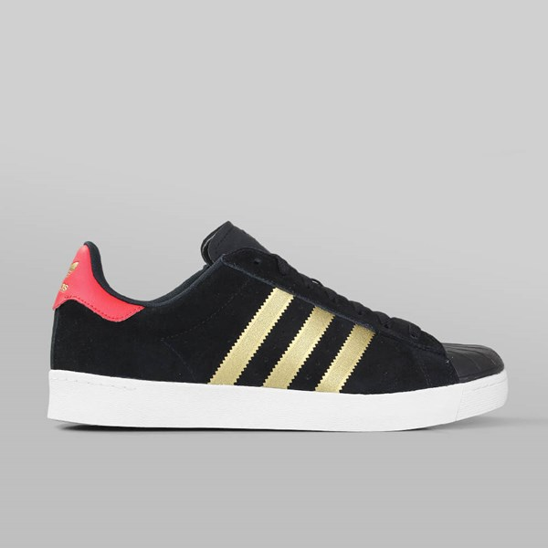 4611dc65dfc8 adidas superstar vulc adv black gold red