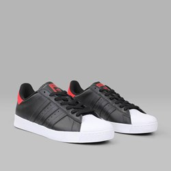 ADIDAS SUPERSTAR VULC ADV BLACK SCARLET WHITE