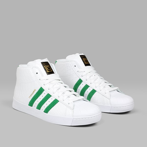 ADIDAS TYSHAWN SUPERSTAR VULC ADV WHITE GREEN
