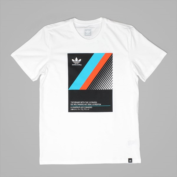 ADIDAS VHS BLOCK SS T-SHIRT WHITE BLACK