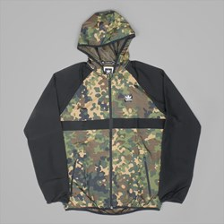 ADIDAS WINDBREAKER JACKET CAMO PRINT BLACK