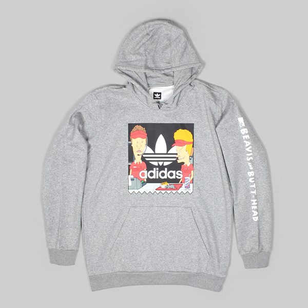 half off 0adb9 c819f ADIDAS X BEAVIS  BUTTHEAD HOODIE HEATHER GREY