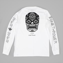 ADIDAS X BONETHROWER LONG SLEEVE TEE WHITE