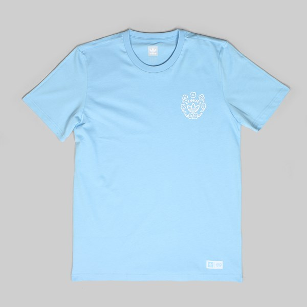 ADIDAS X KROOKED SS TEE CLEAR BLUE WHITE