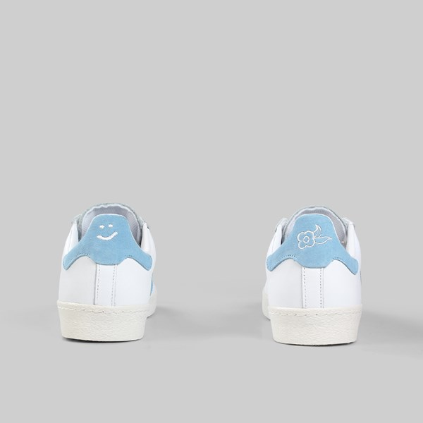 ADIDAS X KROOKED SUPERSTAR VULC WHITE CLEAR BLUE CHALK
