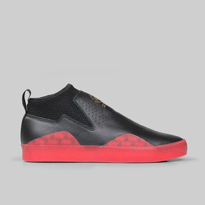 san francisco ca8f6 696c1 ADIDAS 3ST.002 CORE BLACK SCARLET CORE BLACK  Adidas Skateboarding Footwear