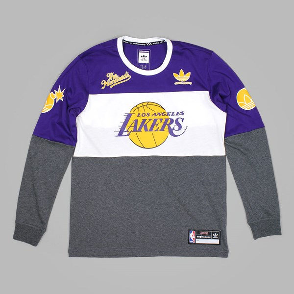 ADIDAS X THE HUNDREDS X LA LAKERS LS TEE PURPLE  933c2c2cc