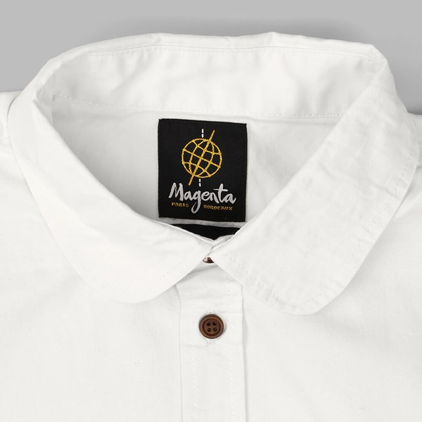 AIME BY MAGENTA SS BUTTON DOWN SHIRT WHITE