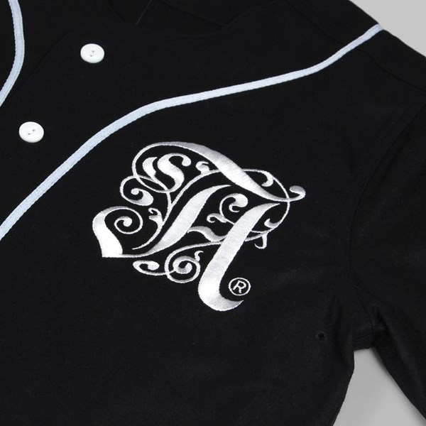 ALIFE ANTIQUE A BASEBALL JERSEY BLACK