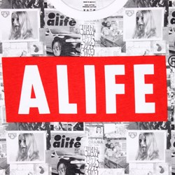 ALIFE WALL TEE ALL OVER PRINT MULTI