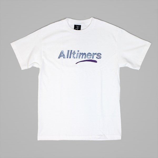 ALLTIMERS ESTATE WATER COLOUR TEE WHITE