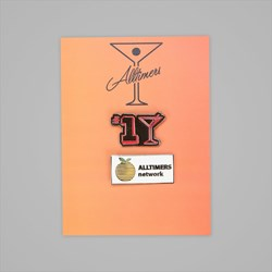 ALLTIMERS PIN BADGE SET OF 2
