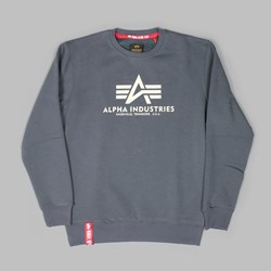 ALPHA INDUSTRIES BASIC SWEAT GREY BLACK
