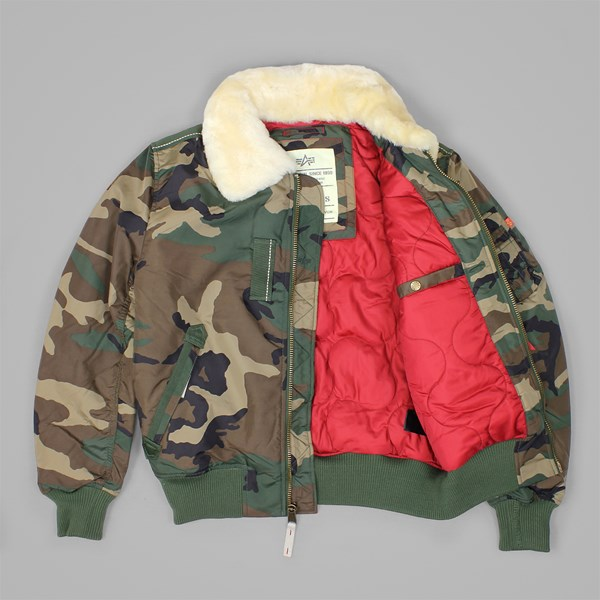 ALPHA INDUSTRIES INJECTOR III JACKET WOODLAND CAMO
