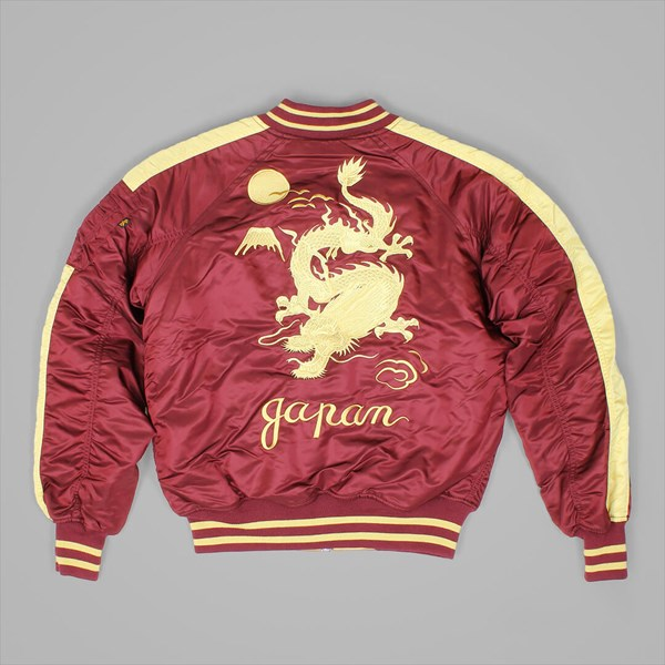 ALPHA INDUSTRIES JAPAN DRAGON JACKET BURGUNDY