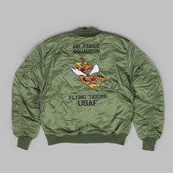 ALPHA INDUSTRIES MA-1 VF FLYING TIGERS JACKET SAGE