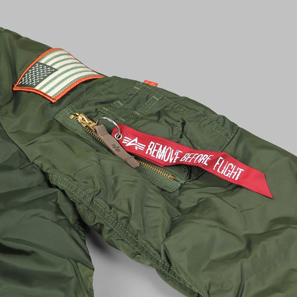 ALPHA INDUSTRIES MA-1 VF NASA RP JACKET DARK GREEN