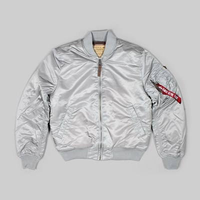 ALPHA INDUSTRIES MA-1 VF59 BOMBER JACKET SILVER