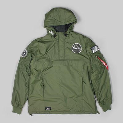 ALPHA INDUSTRIES NASA ANORAK PO JACKET DARK GREEN