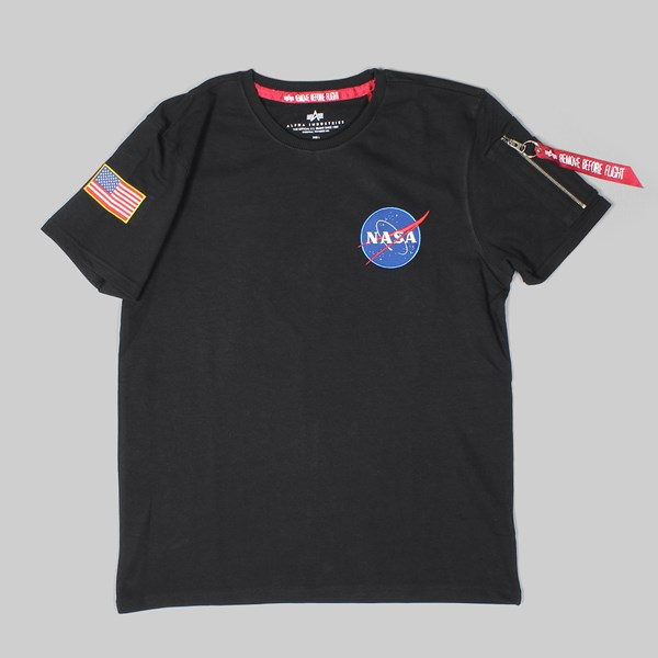 ALPHA INDUSTRIES NASA HEAVYWEIGHT T-SHIRT BLACK
