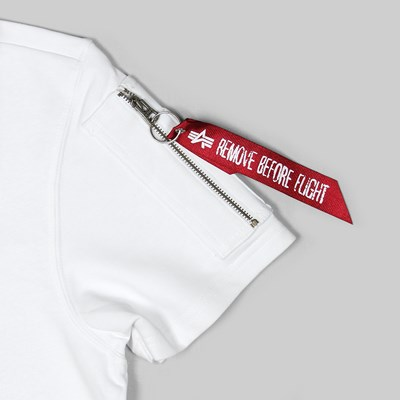 ALPHA INDUSTRIES NASA HEAVYWEIGHT T-SHIRT WHITE