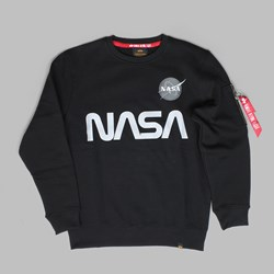 ALPHA INDUSTRIES NASA REFLECTIVE SWEAT BLACK