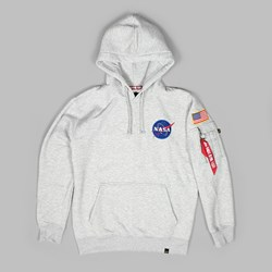 ALPHA INDUSTRIES SPACE SHUTTLE PO HOODY GREY