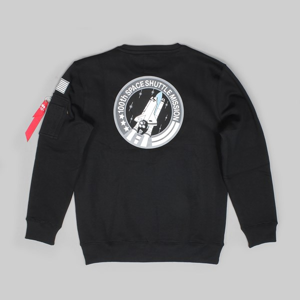 ALPHA INDUSTRIES SPACE SHUTTLE SWEAT BLACK