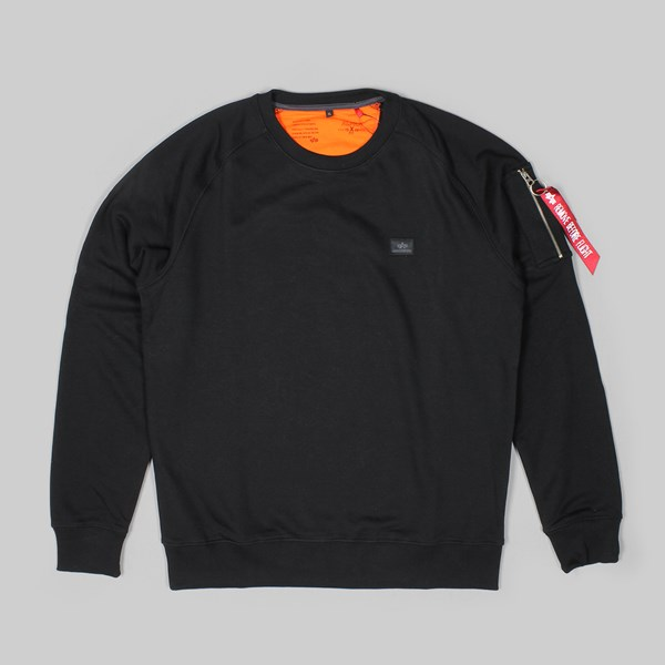ALPHA INDUSTRIES X-FIT CREW SWEAT BLACK