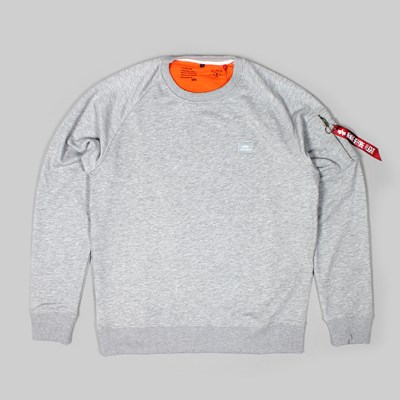 ALPHA INDUSTRIES X-FIT CREW SWEAT GREY HEATHER